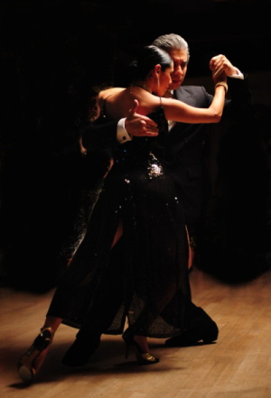 Jorge Torres and Natalia Hills perform the tango
